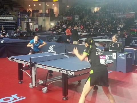 Perrine LAURENT lors de son 16ème de finale contre  Jia Nan YUAN
