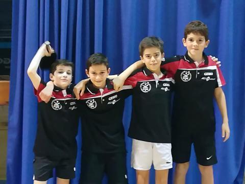 Hugo 9ème en R1 -11 ans, Martin 1er, Victor 4ème et Karl 6ème en R2 -11 ans