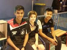 Shaheel, Matéo et Rafaël au tournoi de Marly-le-Roi (janvier 2015)