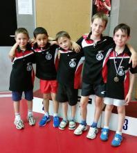 Une équipe bien soudée au challenge Jeune Pongiste
