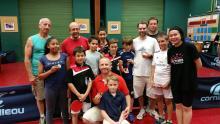 les médaillés du tournoi-famille 2015 à la fête de fin de saison