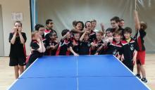 Les jeunes stagiaires pongistes de l'EPI à Jacques Goddet