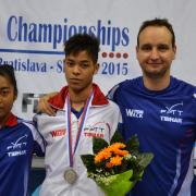 Vony-Ange, Alexandre et David (coach), les isséens au CEJ